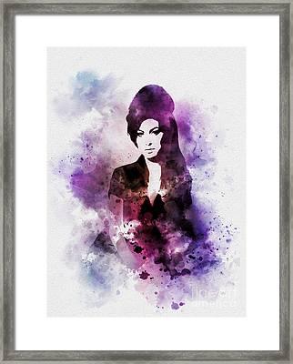 Amy Framed Print by Rebecca Jenkins