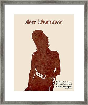 Amy Vintage Framed Print