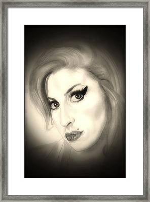 Amy Winehouse Framed Print by Fred Larucci