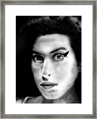 Amy Winehouse Framed Print by Penny Ovenden