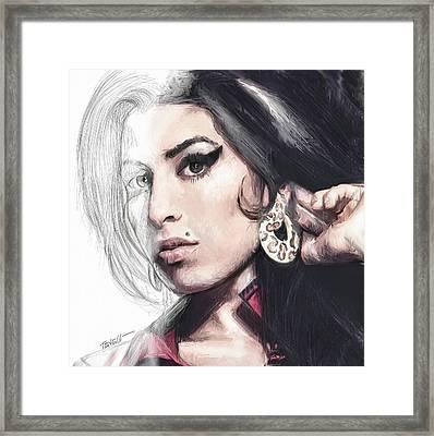 Amy Winehouse Unfinished Journey  Framed Print