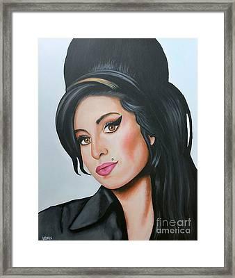 Amy Winehouse Framed Print by Venu