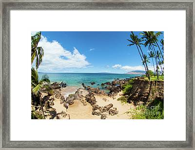 Framed Print featuring the photograph Amzing Beach In Hawaii Islands by Micah May