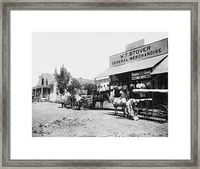 An 1885 General Store Framed Print by Underwood Archives