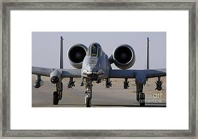 An A-10 Thunderbolt II Framed Print by Stocktrek Images