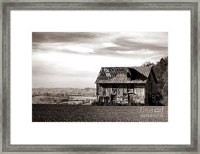 An Abandoned Farmhouse In Normandy Framed Print by Olivier Le Queinec