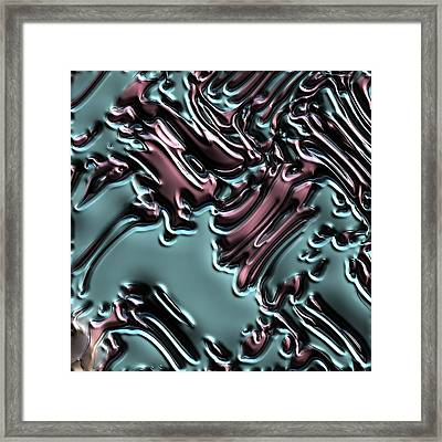 An Abstract, Digital Illustration Of Mixing Acrylic Oil Paints Framed Print by Ljubomir Arsic