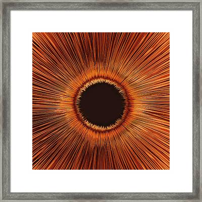 An Abstract Hole Framed Print by Sven Hagolani