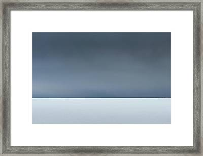 An Abstract Landscape Of The Southern Coast Of Iceland. Framed Print