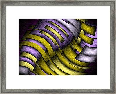 An Abstract Slope Framed Print
