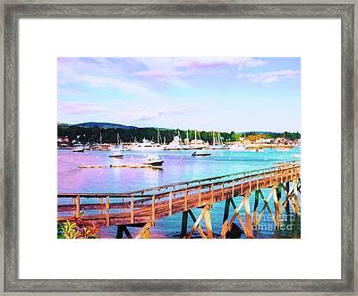An Abstract View Of Southwest Harbor, Maine  Framed Print