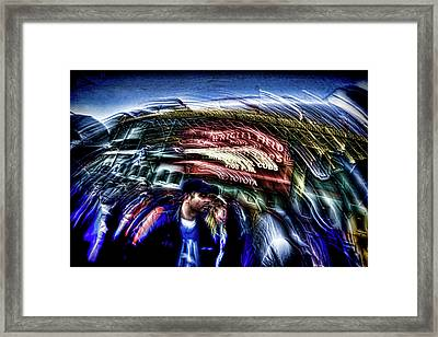 An Abstract Vision Of Fans Going To A Chicago Cubs Game Framed Print by Sven Brogren