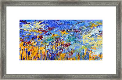An Abstract Vision Under The Sea Framed Print