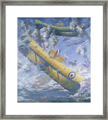 An Aerial Fight, Wwi Framed Print