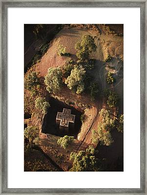 An Aerial View Of Beta Framed Print by James P. Blair
