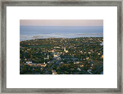 An Aerial View Of Chatham Framed Print by Michael Melford