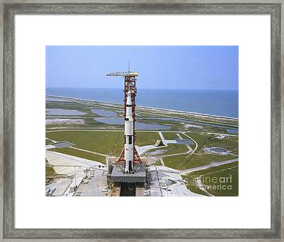 An Aerial View Of The Apollo 15 Framed Print by Stocktrek Images