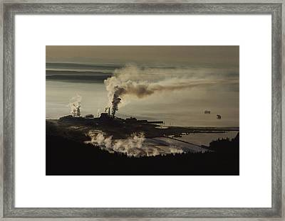 An Aerial View Of The Crown Zellerbach Framed Print