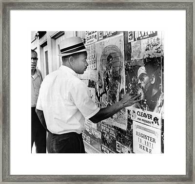 An African American Pokes His Finger Framed Print