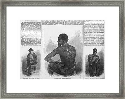 An African American Runaway Slave Named Framed Print by Everett