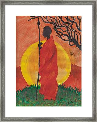 An African Man Framed Print by Bobby Dar