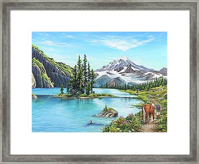 An Afternoon Adventure Framed Print by Joe Mandrick