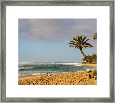 An Afternoon At Sunset Beach Framed Print