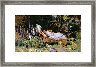 An Afternoon Nap Framed Print
