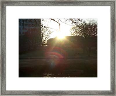 An Afternoon Of Light Framed Print by A Windhauser