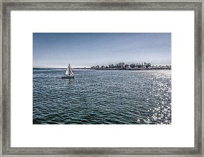 An Afternoon Sail Framed Print by Mary Chris Hines