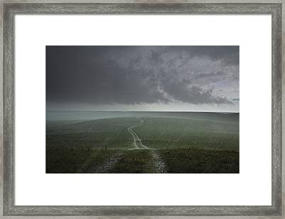 An Afternoon Thunderstorm Coming Framed Print