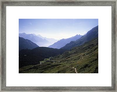 An Afternoon View Of The Alpine Hiking Framed Print