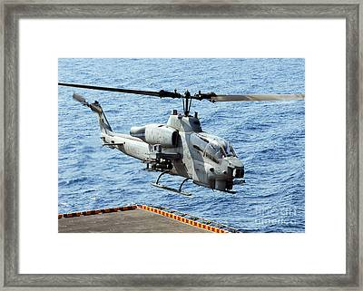An Ah-1w Super Cobra Helicopter Framed Print by Stocktrek Images