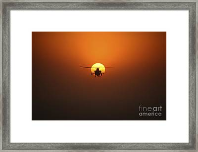 An Ah-64d Apache Helicopter Flying Framed Print by Terry Moore