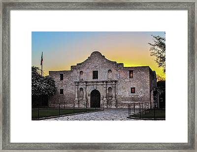 An Alamo Sunrise - San Antonio Texas Framed Print by Gregory Ballos
