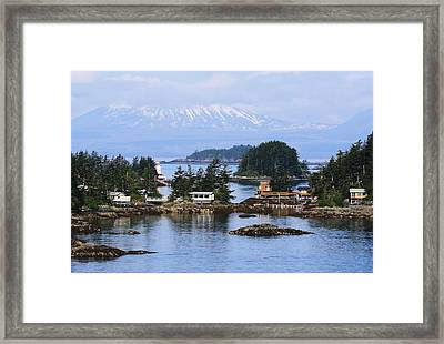 Framed Print featuring the photograph An Alaska Village by Laurinda Bowling