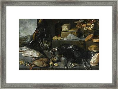 An Allegory Of The Month Of December Framed Print by MotionAge Designs