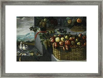 An Allegory Of The Month Of October Framed Print