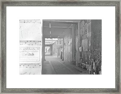 An Alley To A Backstreet Framed Print