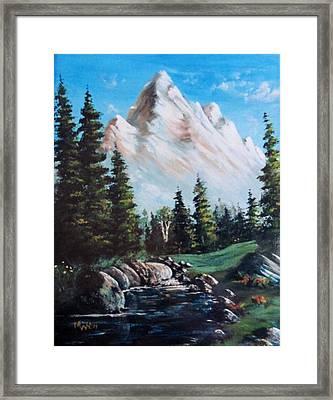 An Alpine Stream Framed Print by Megan Walsh