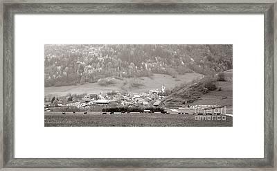 An Alpine Village  Framed Print