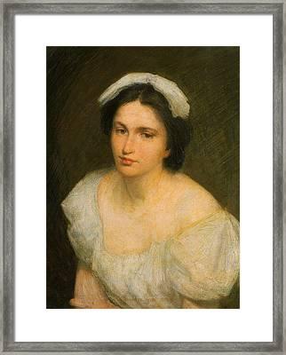 An Alsatian Girl Framed Print by Julian Alden Weir