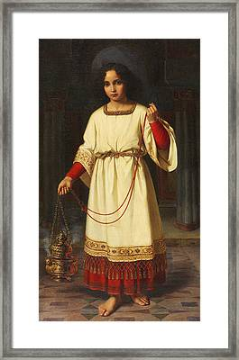 An Altar Boy Framed Print by Abraham Solomon