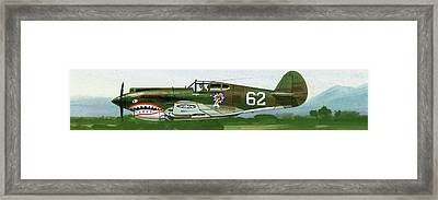 An American Curtiss P40 B Fighter Framed Print by Wilf Hardy