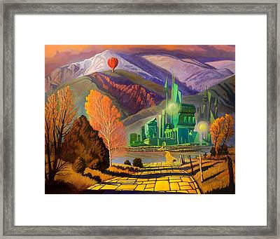 Framed Print featuring the painting Oz, An American Fairy Tale by Art West