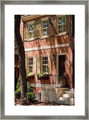 An American Home Framed Print