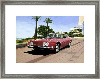 An American In Cannes Framed Print by Richard Herron