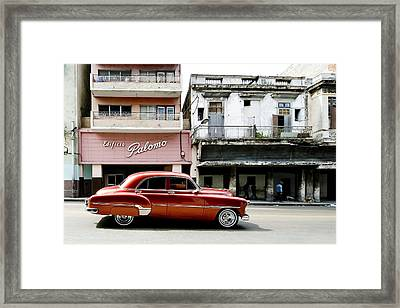 Framed Print featuring the photograph An American In Havana by Denis Rouleau