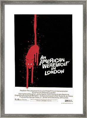 An American Werewolf In London, Poster Framed Print by Everett