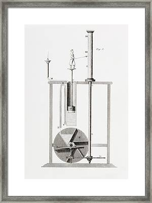An Ancient Clepsydra Or Water Clock Framed Print by Vintage Design Pics